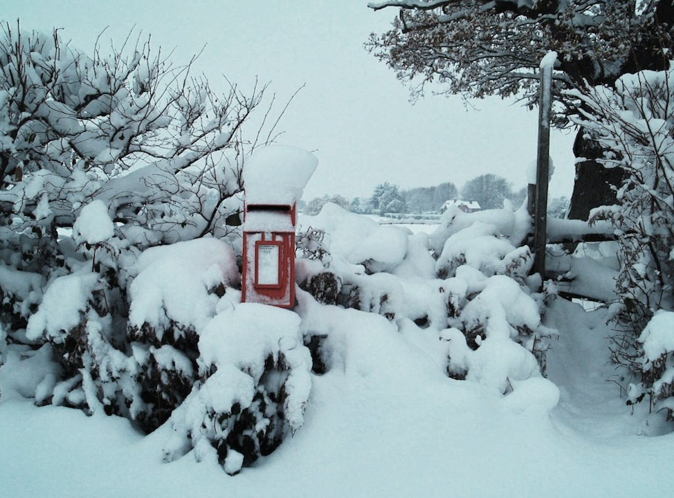 Postbox in the snow